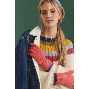 Anthropologie Lyla Recycled Shimmer Gloves